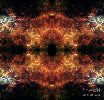 Double Heads Abstract Space Art by Animated Sentiments