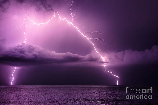 Double lightning by Marko Korosec