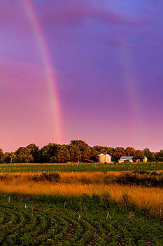 Ron Pate - Double Rainbow Over the Farm