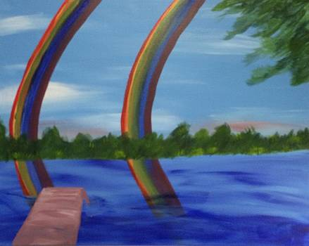 Double Rainbow  by Toni  Di Nuzzo
