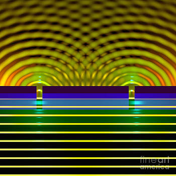 Double Slit Experiment 10 by Russell Kightley