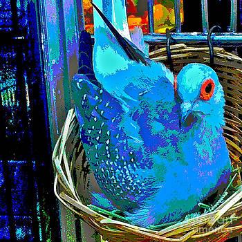 Dove in Nest by Jennifer Reitmeyer