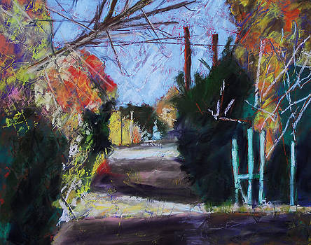 Down A Street Pastel by Donna Crosby