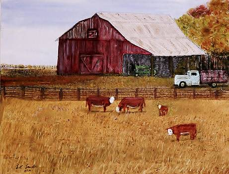 Down on the farm by Larry E  Lamb