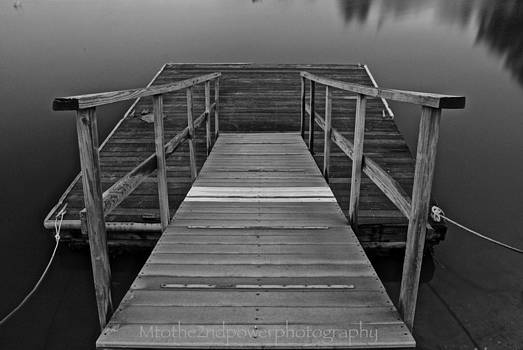 Down the Dock in Black and White by Megen McAuliffe