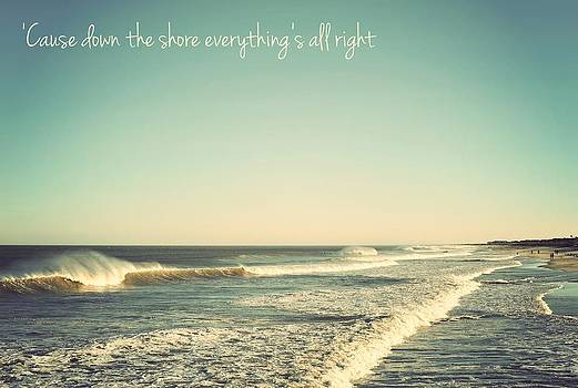 Down the Shore Seaside Heights Vintage Quote by Terry DeLuco