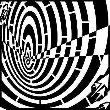 Down Tunnel Spinning Maze by Yonatan Frimer Maze Artist