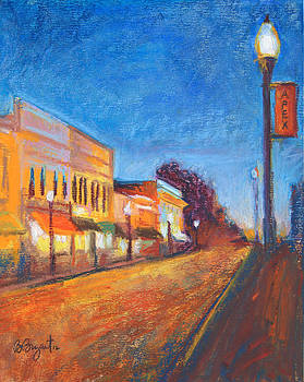 Downtown Apex at Night by Bethany Bryant