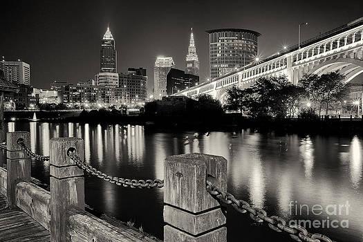 Joshua Clark - Downtown Cleveland Monochrome