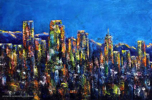 Downtown Denver Night Lights by Jennifer Godshalk