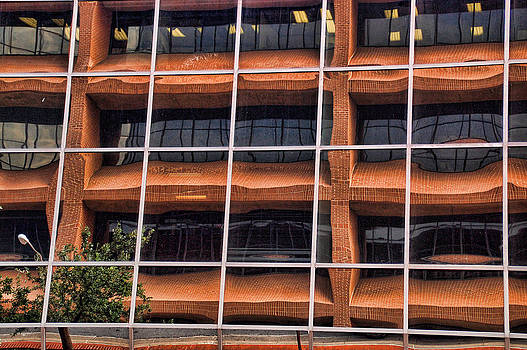 Downtown Fort Worth Reflections by Janet Maloy