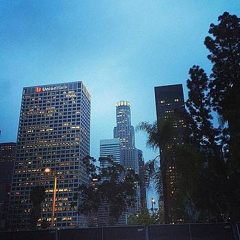 #downtown #losangeles #lights #city by Ann Marie Donahue