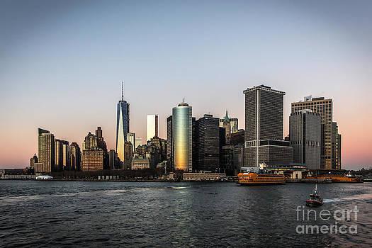 Downtown Manhattan at Sunset by Daniel Portalatin Photography