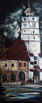 Downtown Sibiu Romania by Dorothy Maier