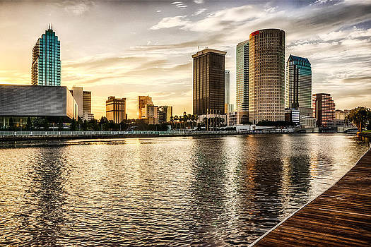 Downtown Tampa at Sunrise by Michael White