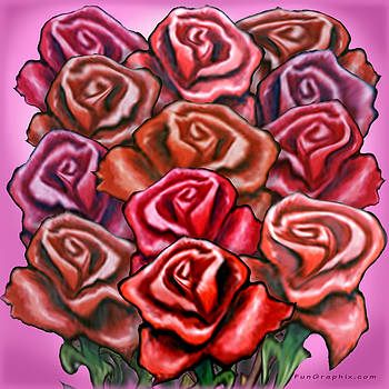 Dozen Red Roses by Kevin Middleton