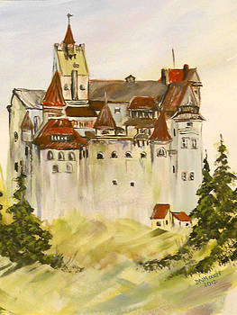 Dracula's Castle in Bran Romania by Dorothy Maier