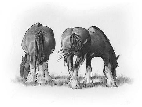 Joyce Geleynse - Draft Horses Eating