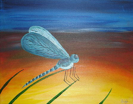 Dragonfly at Dawn by Angie Butler