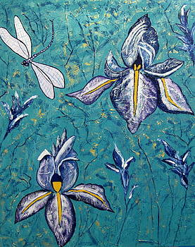 Dragonfly Irises by Susan McLean Gray