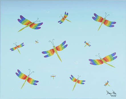 Dragonfly Party by Doug Miller
