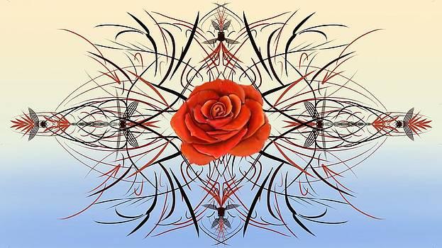 Dragonfly Rose by Douglas Day Jones