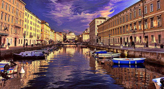 Dramatic skies over Trieste by Graham Hawcroft pixsellpix