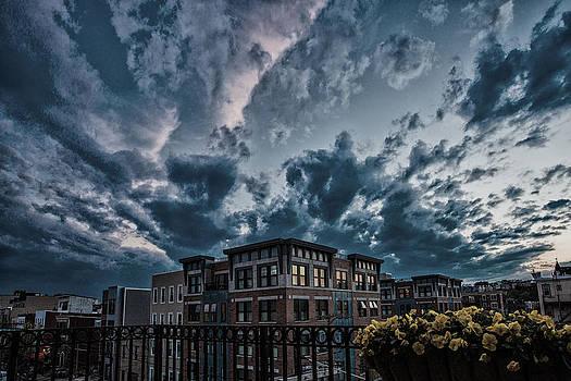 Dramatic Sunset Sky in Hoboken by John Dryzga