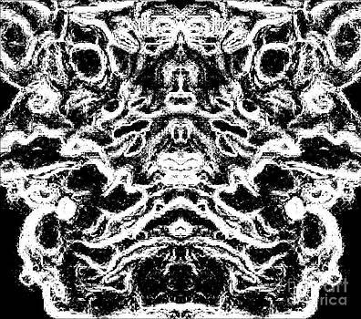 Drinka Mercep - Drawing Black White Art Abstract No.101