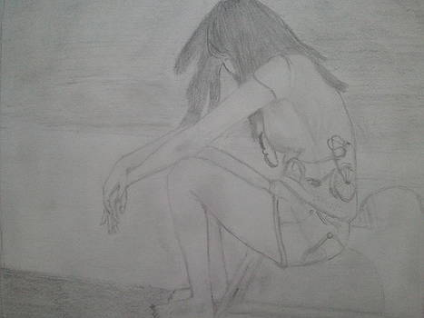 Drawing - My thoughts by Pallavi Talra