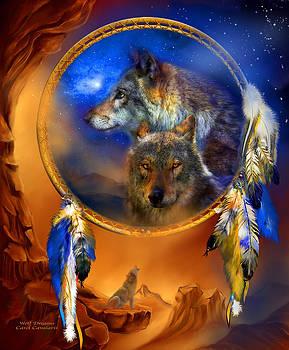 Dream Catcher - Wolf Dreams by Carol Cavalaris