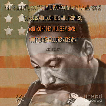 DREAM OR PROPHECY - Dr Rev Martin  Luther King Jr by Reggie Duffie