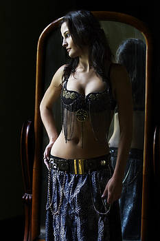 Dreaming belly dancer by Peter Turner
