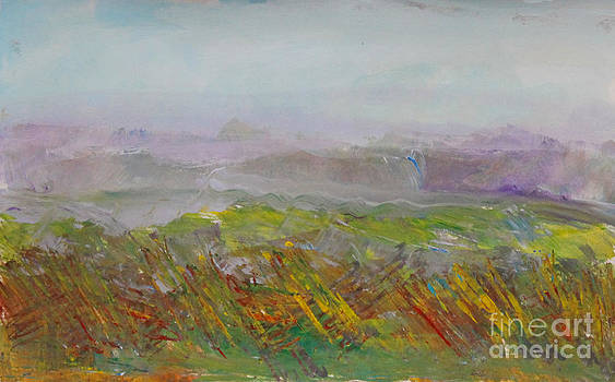 Dreamy Landscape Abstract by Anne Cameron Cutri