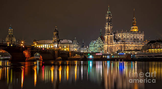 Dresden by Night by Bernd Laeschke