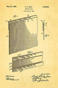 Ian Monk - Drew Adhesive Tape Patent Art 1930