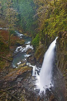 Drift Creek falls by Ulrich Burkhalter