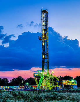 Drilling into the night by Geoff Mckay