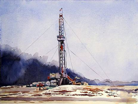 Drilling Near The Dry Fork by Spencer Meagher