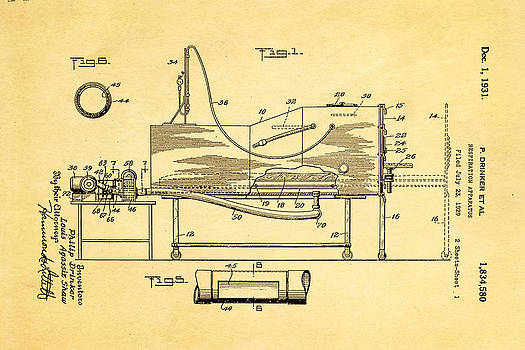 Ian Monk - Drinker Iron Lung Patent Art 1931