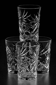 Drinking Glasses in Negative by Lonnie Paulson