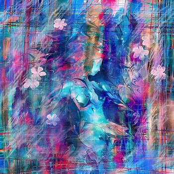 Drowning girl with flowers by Rachel Christine Nowicki