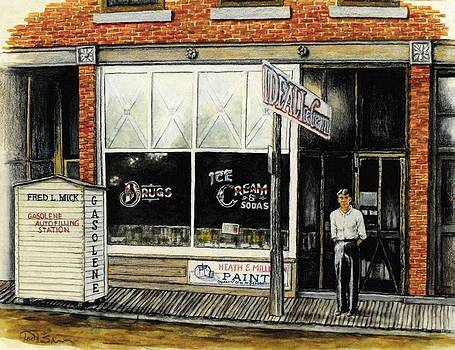 Drugstore-Ice Cream Parlor by Todd Spaur