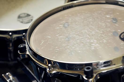 Drum Head on Drums by Rebecca Brittain