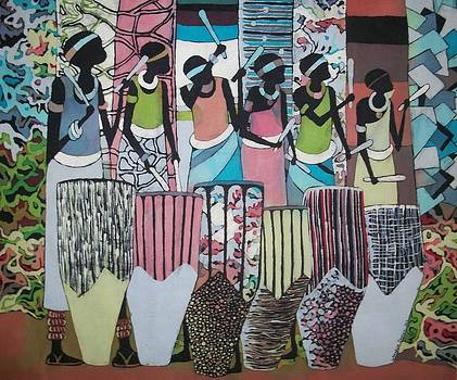 Drummers by Lukandwa Dominic