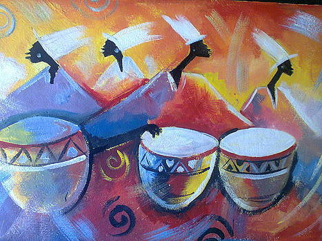 Drumming in Africa by Yaa Hughes