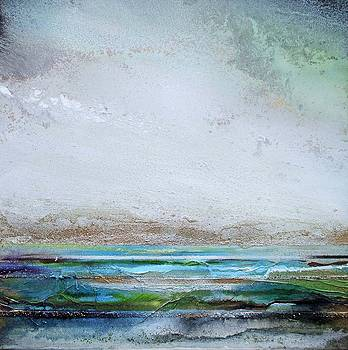 Druridge bay Rhythms and Textures Greens and Blues II by Mike   Bell