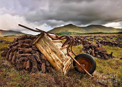 Drying The Peat by Derek Smyth