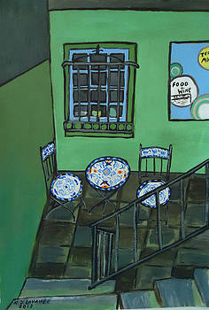 Dublin 28 A Diner Along The River by Roland LaVallee