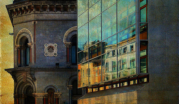 Jenny Rainbow - Dublin Streets. Glass Reflections. Painting Collection